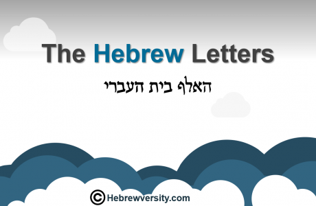 Lesson 1: Hebrew Letters – General Overview