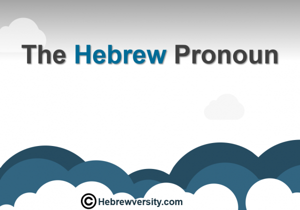The Hebrew Pronoun