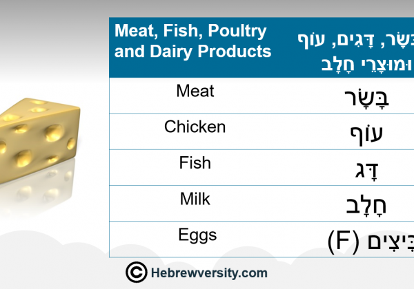 Meat, Fish, Poultry and Dairy Products