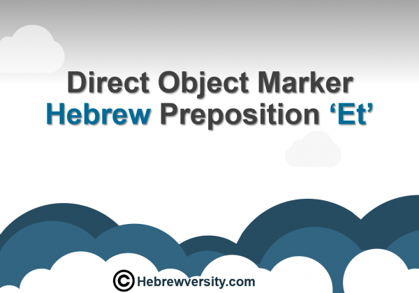 Et – Direct object marker
