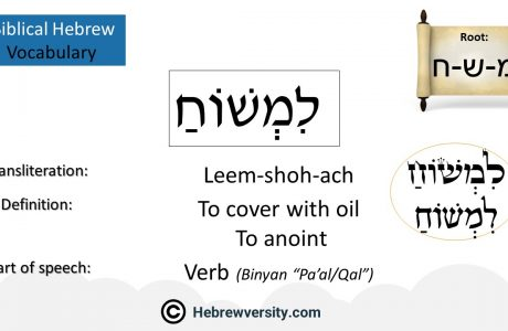 Biblical Hebrew Vocabulary List 34