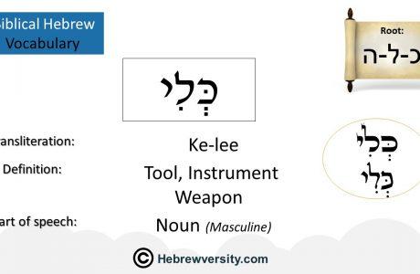 Biblical Hebrew Vocabulary List 21