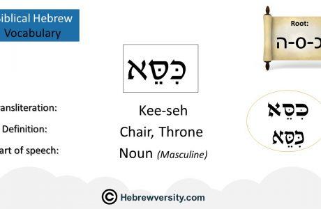 Biblical Hebrew Vocabulary List 13