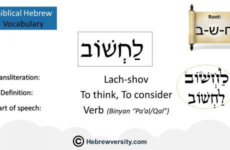 Biblical Hebrew Vocabulary List 14