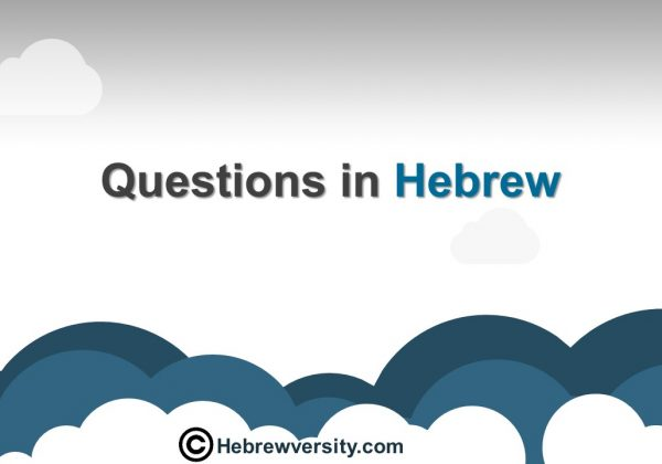Questions in Hebrew