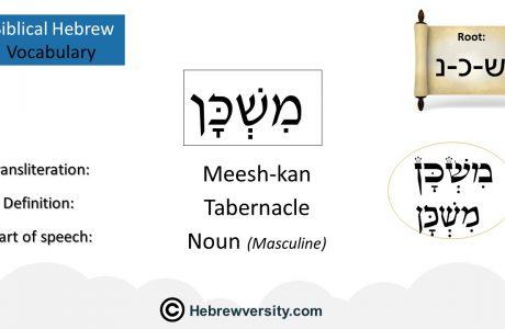 Biblical Hebrew Vocabulary List 3