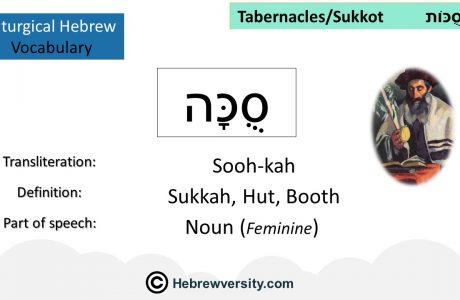 Sukkot Vocabulary