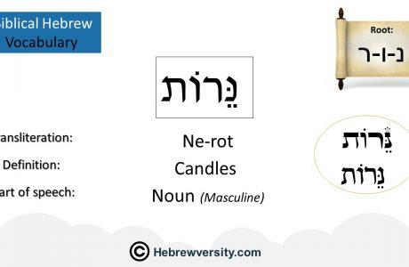 Biblical Hebrew Vocabulary List 5