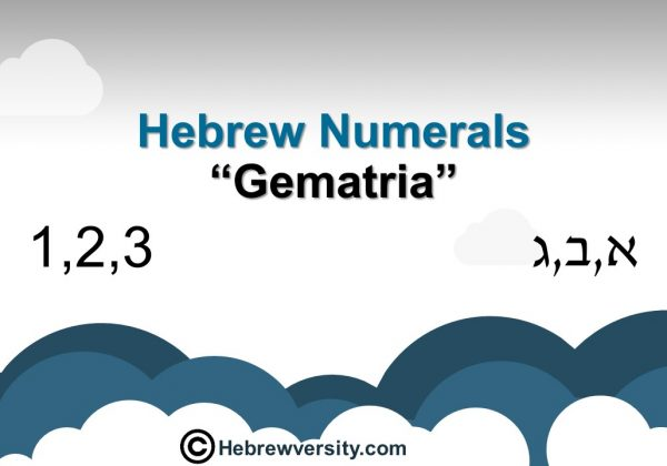 Hebrew Numerals and Gematria