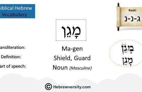 Biblical Hebrew Vocabulary List 17