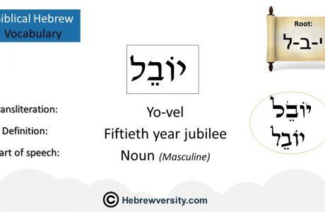 Biblical Hebrew Vocabulary List 16