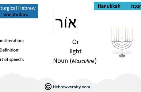 Hanukkah Vocabulary