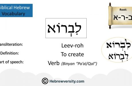 Biblical Hebrew Vocabulary List 18